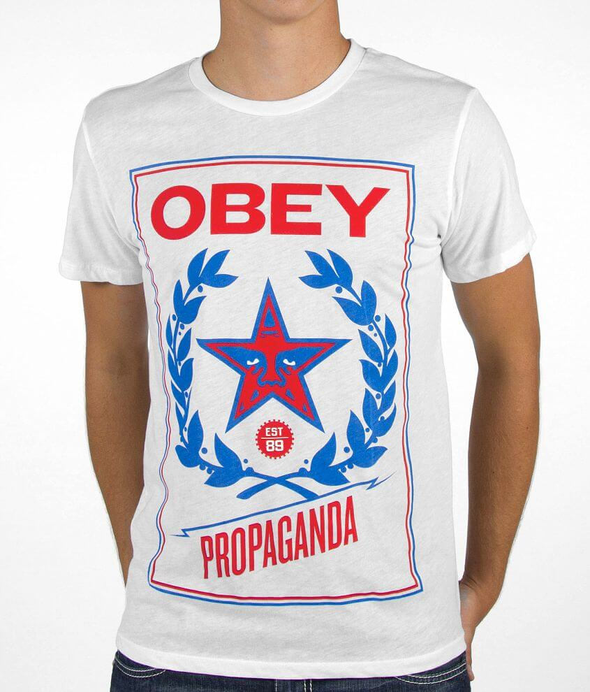 OBEY Classic Crest T-Shirt front view