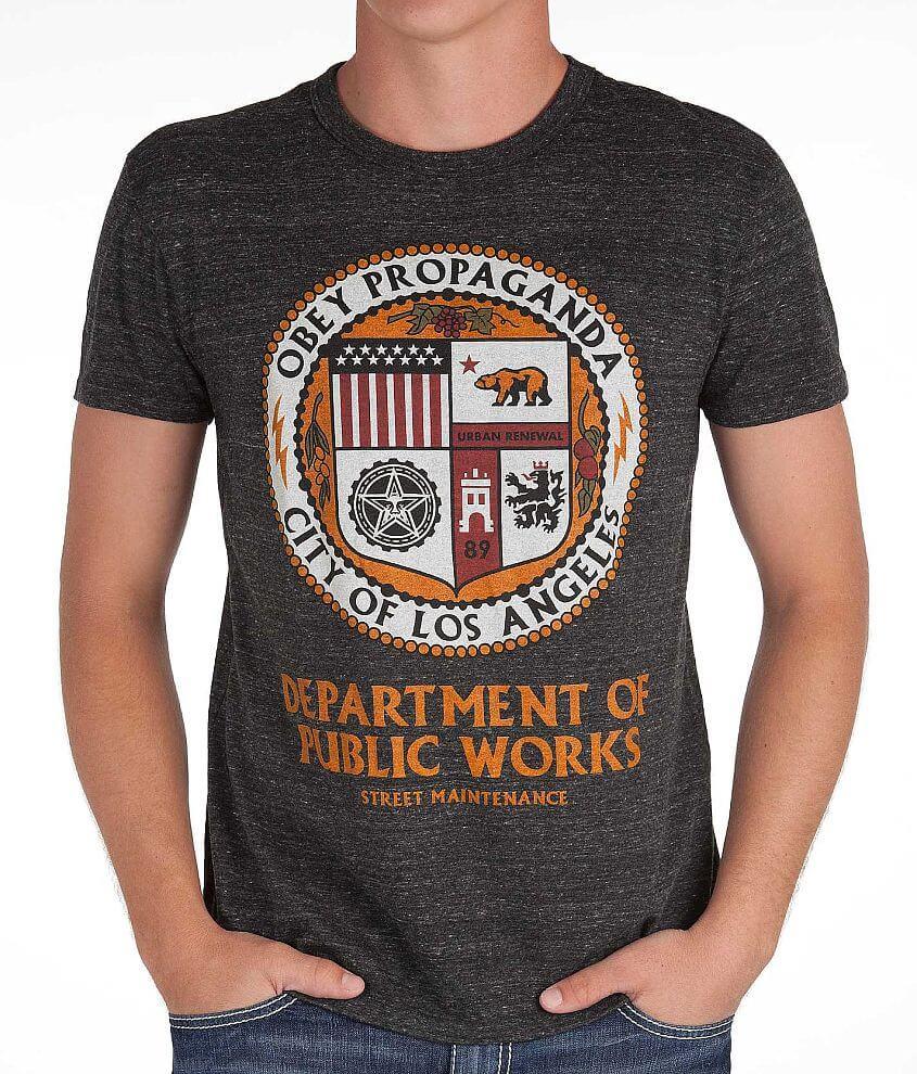 OBEY LA Public Works T-Shirt front view