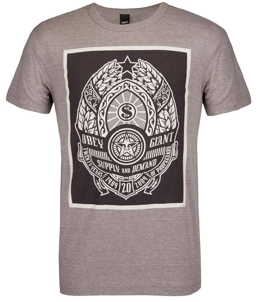 OBEY Supply 20 Years T-Shirt front view