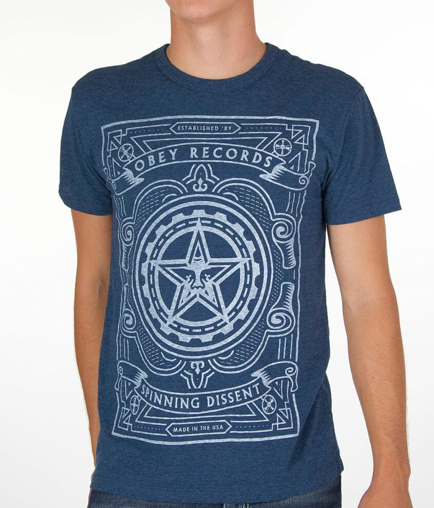 OBEY Spinning Dissent T-Shirt front view