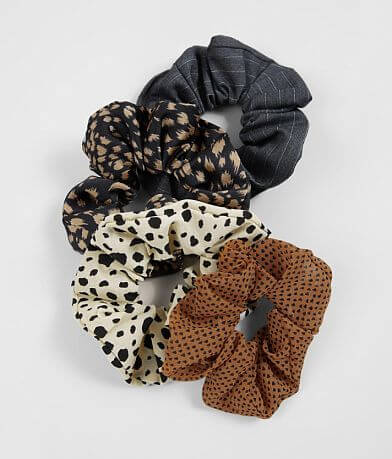 4 Pack Assorted Hair Scrunchies