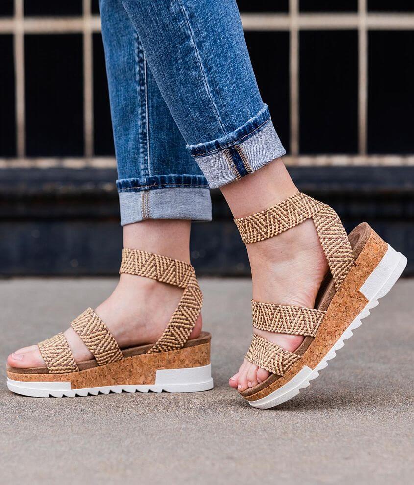 Pierre Dumas Drake Woven Wedge Flatform Sandal front view