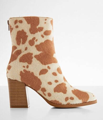 Pierre Dumas Cammy Cow Print Ankle Boot