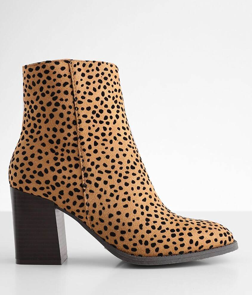 Pierre Dumas Cammy Animal Print Ankle Boot front view