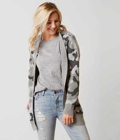 Daytrip Camo Cardigan Sweater