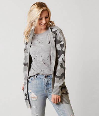 Daytrip Camo Cardigan Sweater