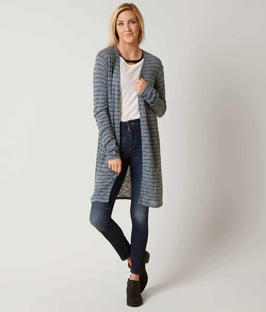 Daytrip Striped Cardigan Sweater - Women's Sweaters in Stormy ...