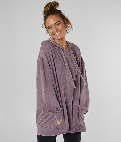 BKE Oversized Burnout Hooded Sweatshirt