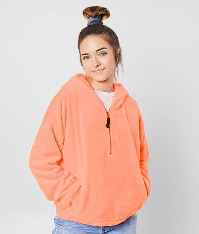 FITZ + EDDI Neon Hooded Fleece Pullover