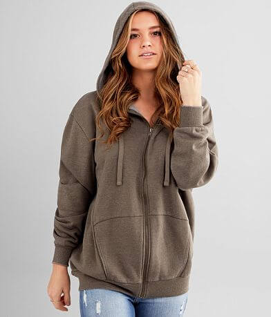 BKE Oversized Knit Hooded Sweatshirt