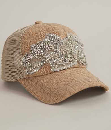 Olive & Pique Burlap Trucker Hat