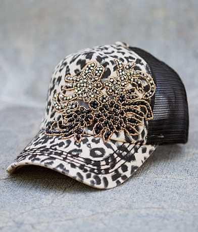 Olive & Pique Leopard Trucker Hat