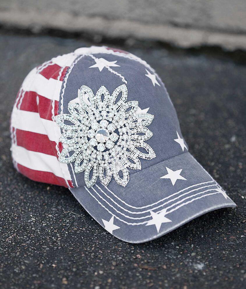 Olive & Pique Stars & Stripes Hat front view