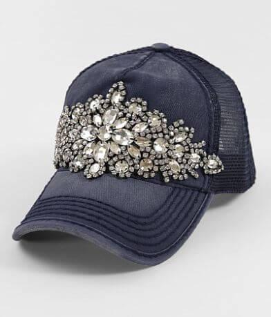 Olive & Pique Rhinestone Glitz Baseball Hat
