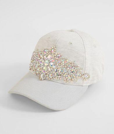 Olive & Pique Rhinestone Baseball Hat