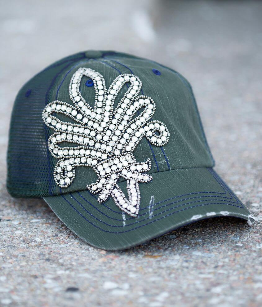 Olive & Pique Glitz Trucker Hat front view