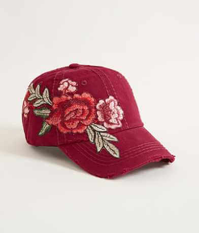 Olive & Pique Floral Embroidered Baseball Hat