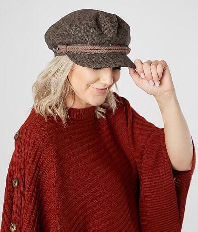 Olive & Pique Herringbone Cabbie Hat