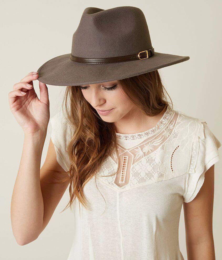 Olive   Pique Panama Hat - Women s Accessories in Dark Grey  cebc54f74309