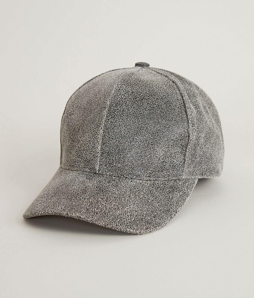 Olive   Pique Leather Baseball Hat - Women s Hats in Distressed ... 153fb4f03