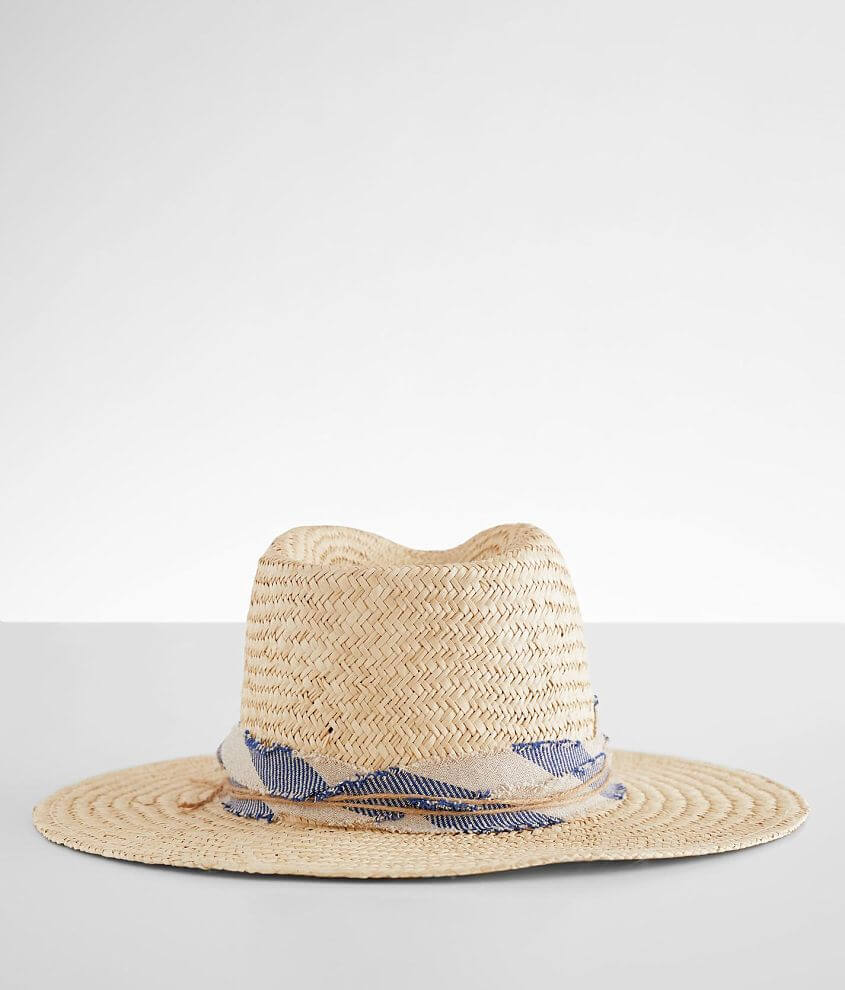 Olive & Pique Straw Panama Hat front view