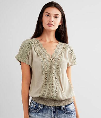 Daytrip Lace Trim Dolman Top