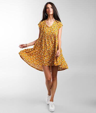 Live & Let Live Floral Babydoll Dress