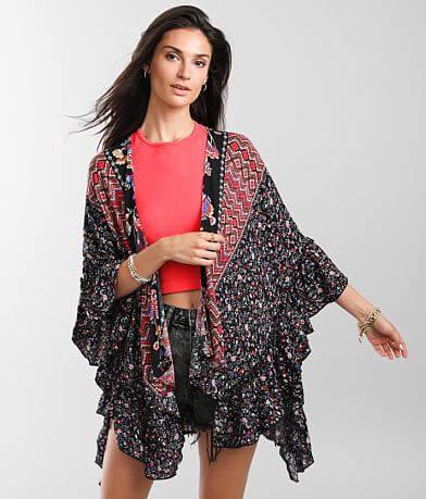 Famers Market Multi Print Kimono