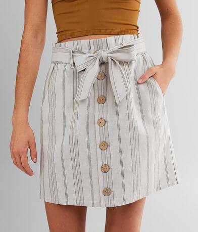 Daytrip Striped Paperbag Skirt