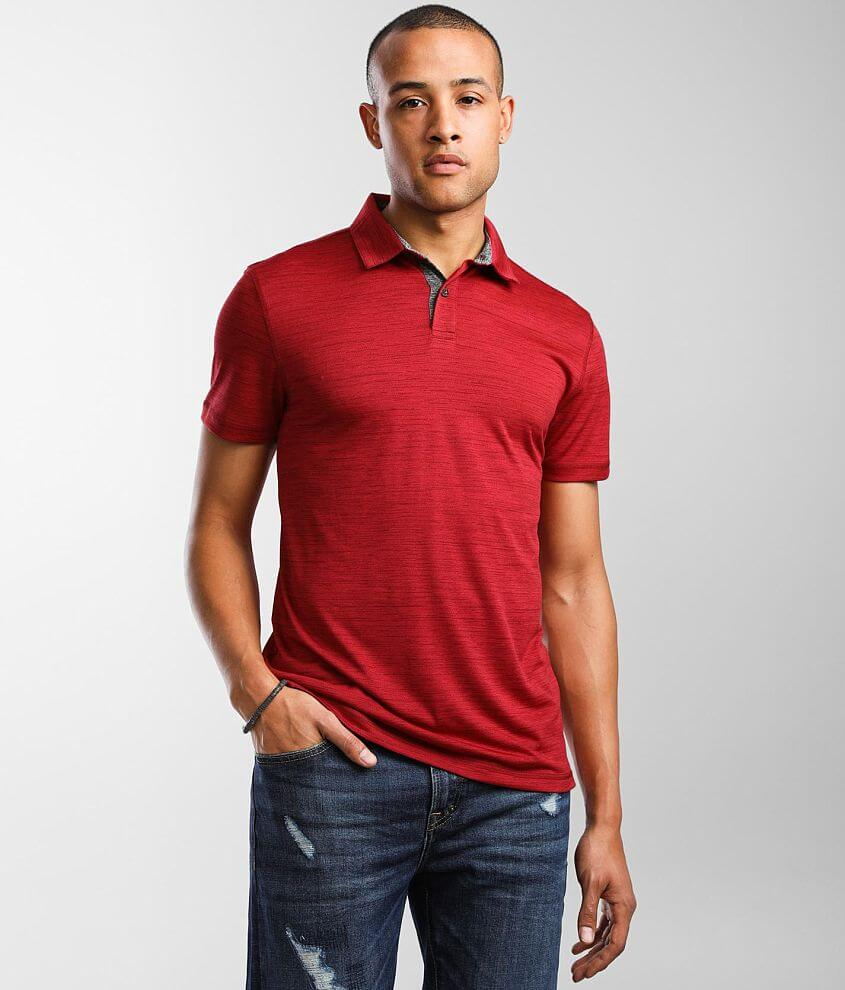 BKE Mock Twist Performance Polo front view