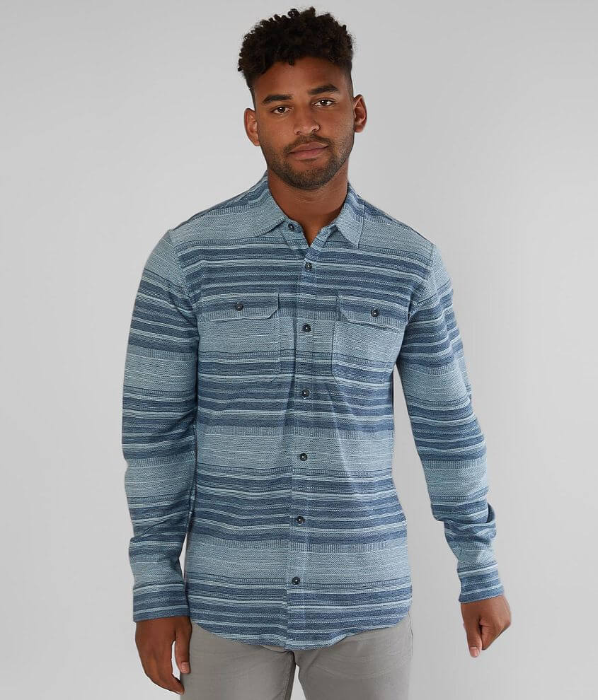 O'Neill Trent Striped Shirt front view