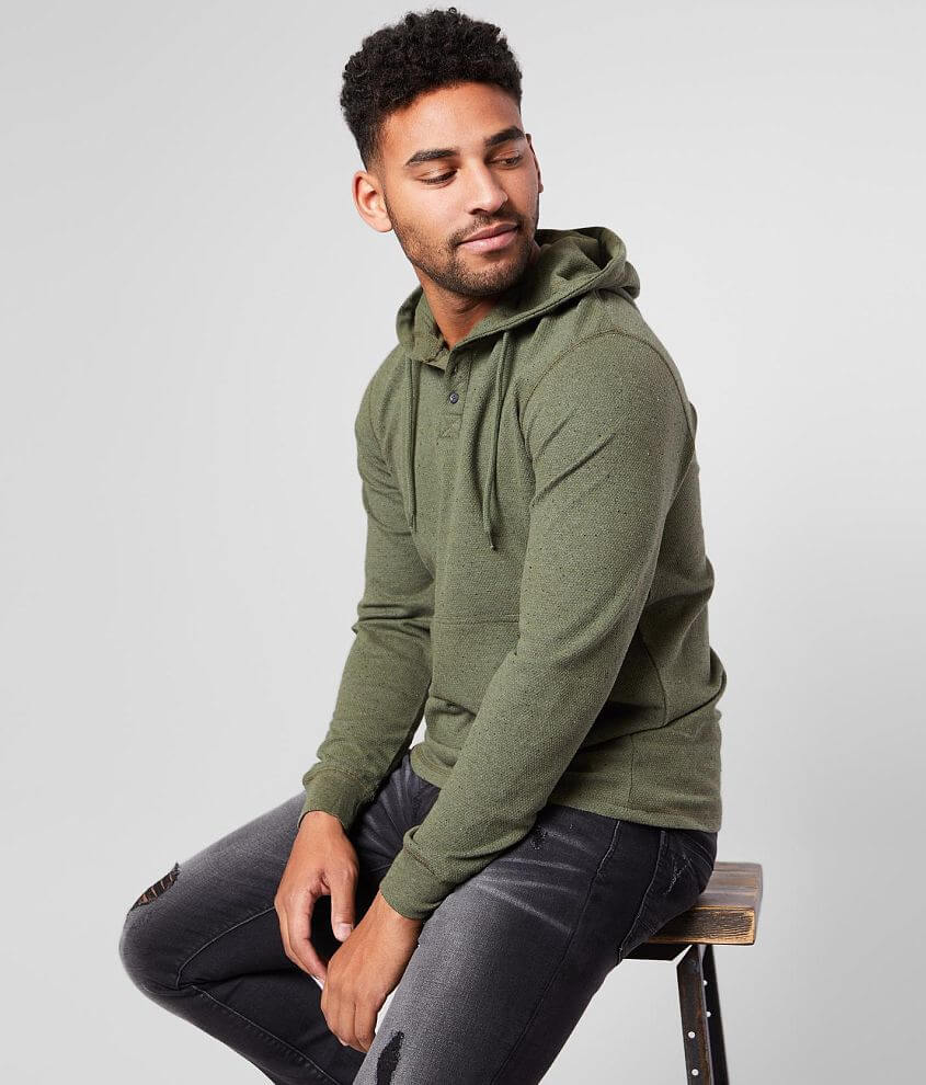 O'Neill Apollo Henley Hoodie Men's Sweatshirts in Olive
