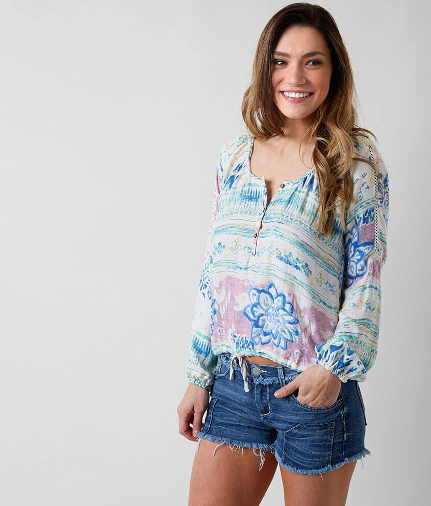 O'Neill Noella Henley Top front view