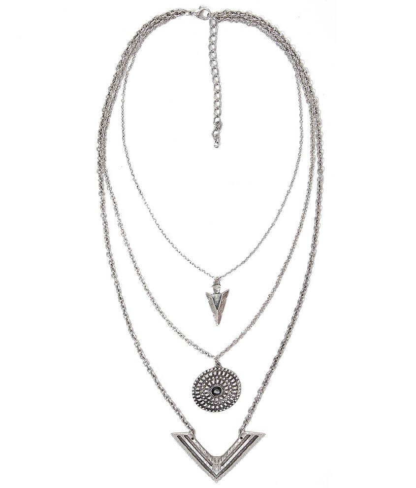 BKE Embossed Necklace front view