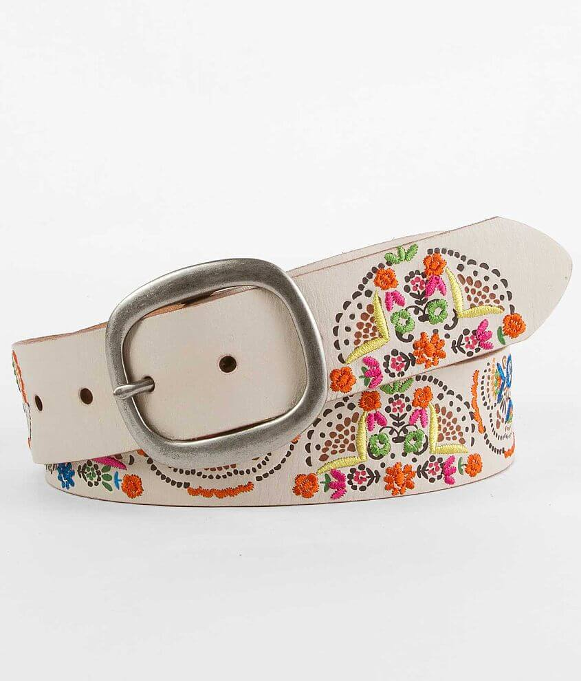 Fossil Embroidered Belt front view