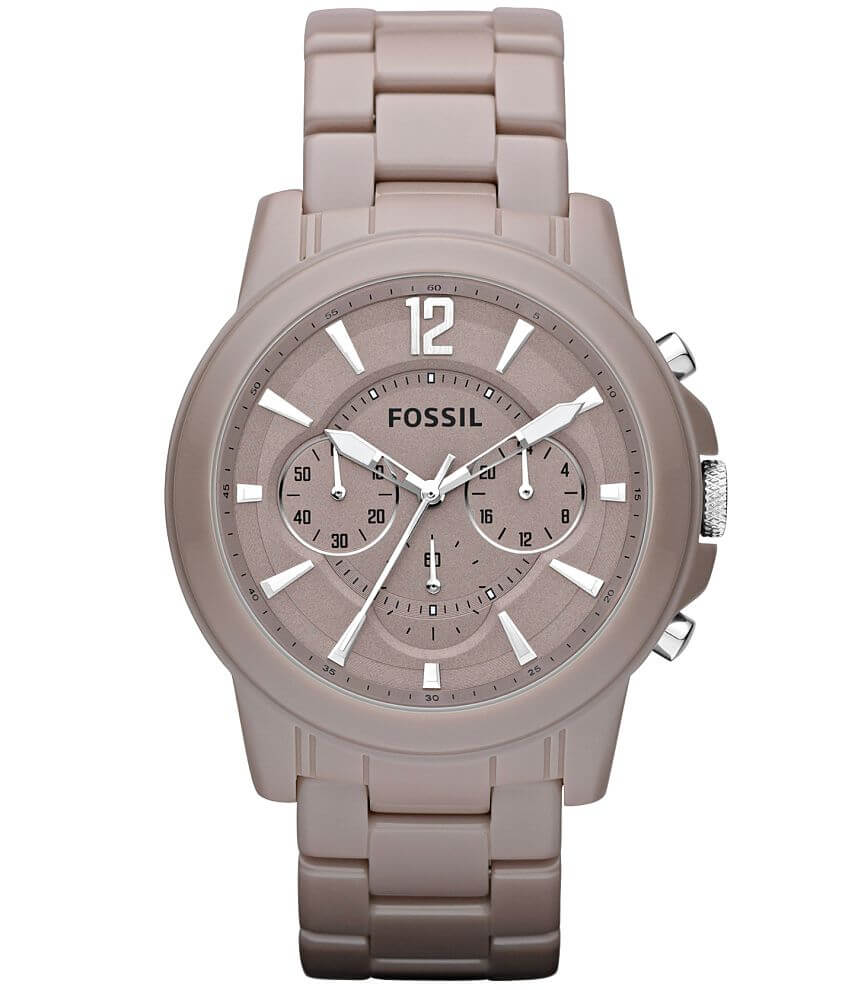 Fossil Grant Ceramic Watch front view