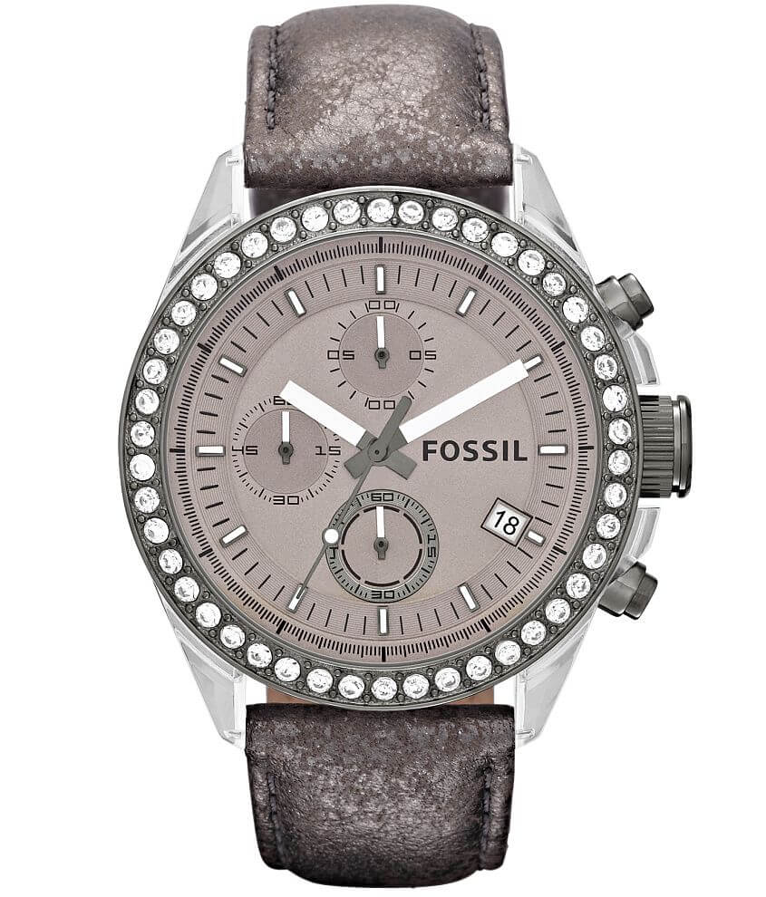 Fossil Dylan Leather Watch front view