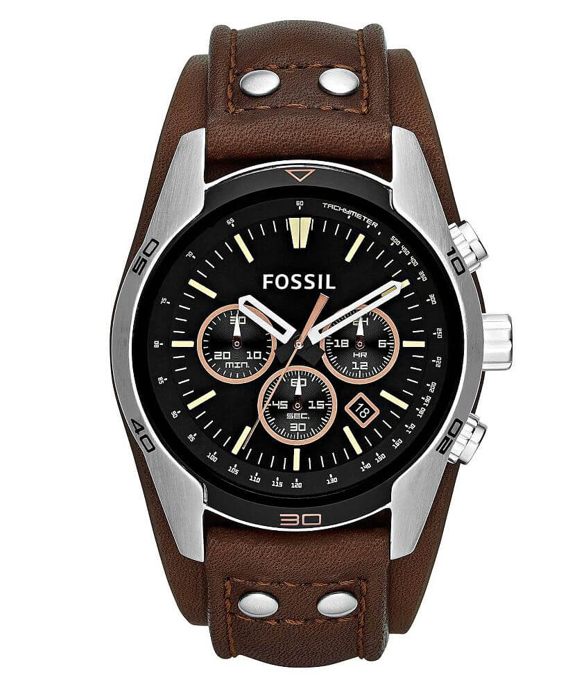 Fossil Coachman Chronograph Watch front view