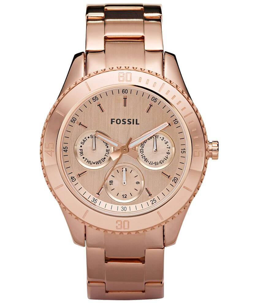 Fossil Stella Plated Watch front view