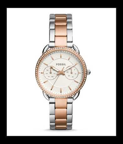 Fossil Two Tone Round Watch