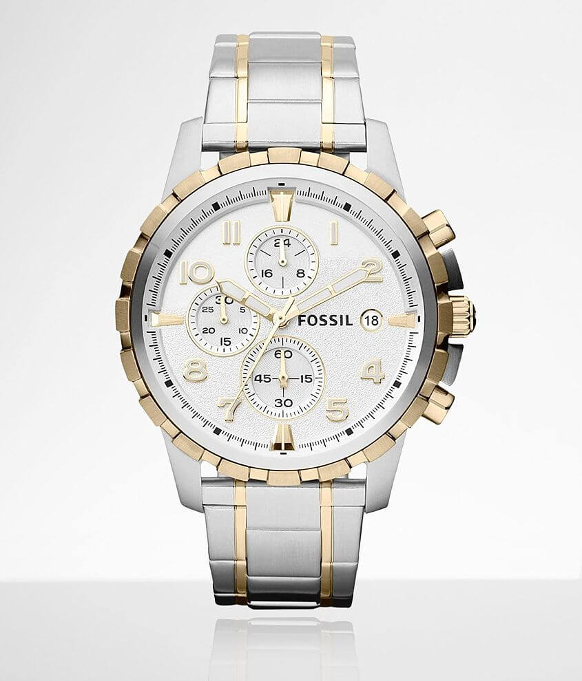 Fossil Two-Tone Stainless Steel Watch front view