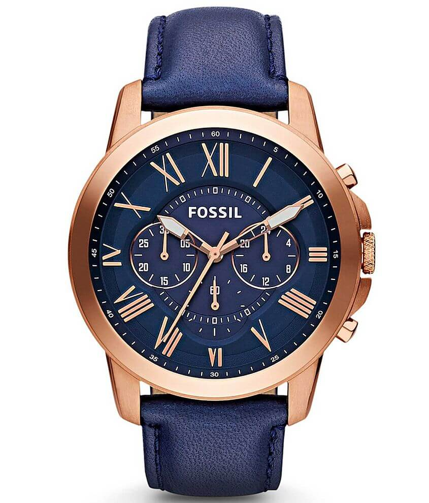 Fossil Round Dial Watch front view