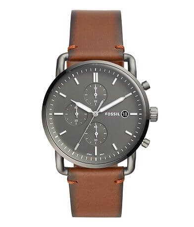 Fossil The Commuter Leather Watch