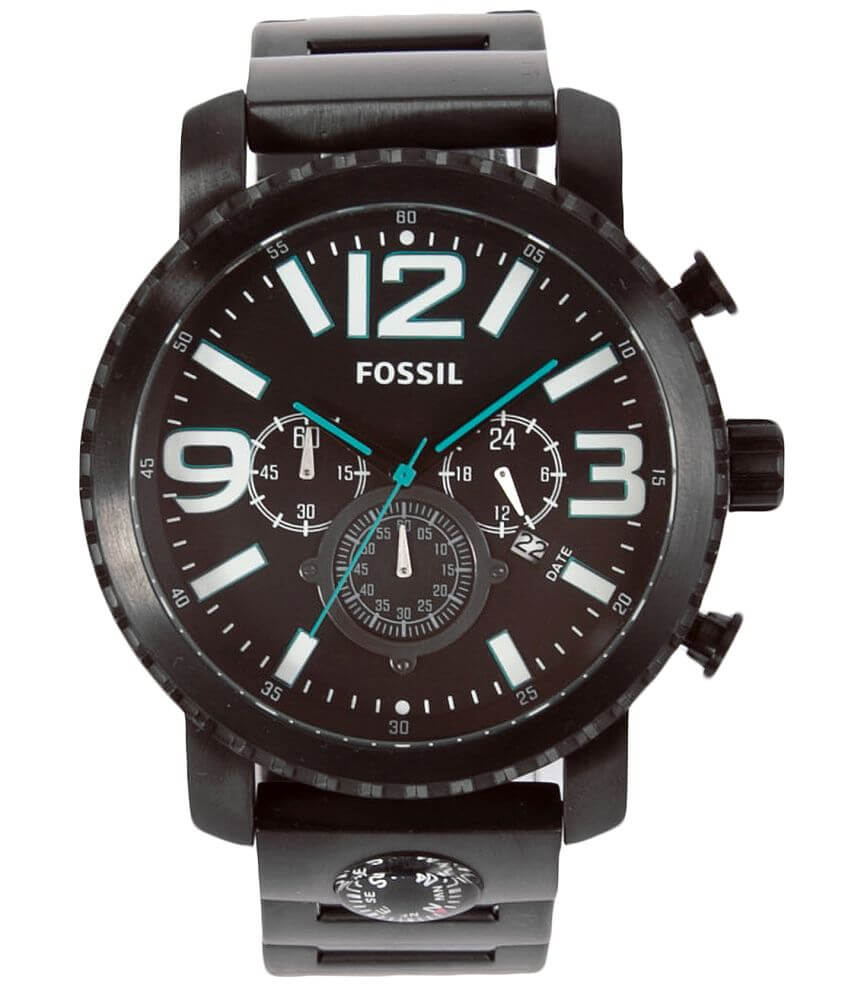 Fossil Gage Black IP Watch front view