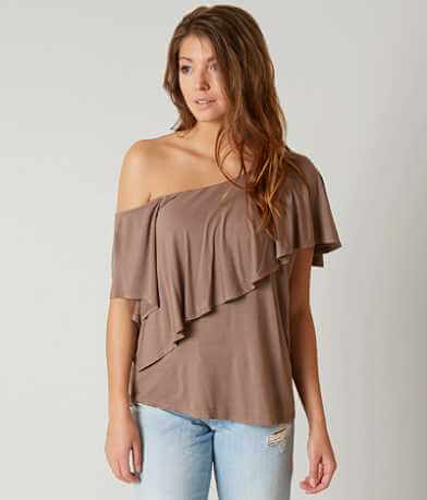 red by BKE Off The Shoulder Top