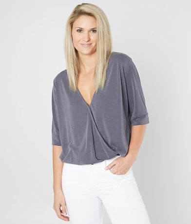 red by BKE Washed Surplice Top