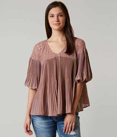 BKE Boutique Pleated Top