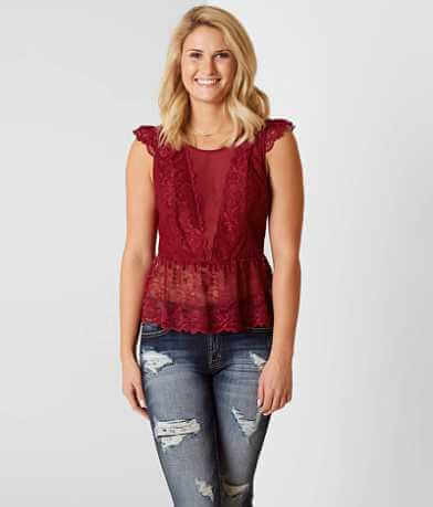 BKE Boutique Peplum Tank Top