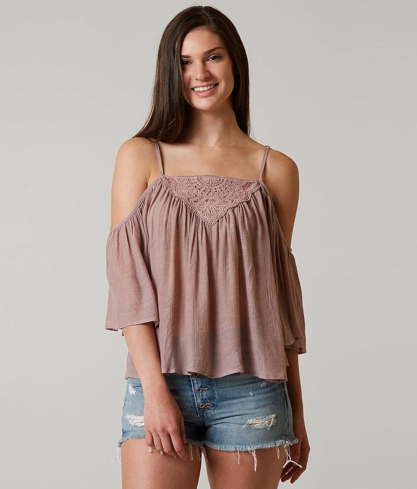 e33fc6984440a0 BKE Boutique Cold Shoulder Top - Women s Shirts Blouses in Mauve ...
