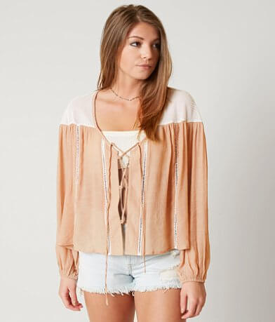 Gimmicks Lace-Up Cardigan
